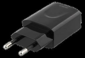 Deltaco Väggladdare för iPhone, iPad m.fl. 1xUSB-A, 2.4A - Svart
