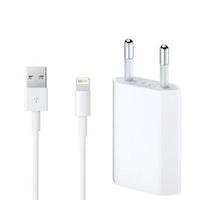 iPhone-laddare med Lightning-kabel 1 m - Vit