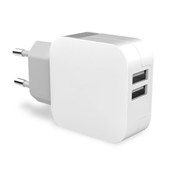 Key Power Wall Dual 2X USB 3.4A White