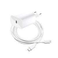 SiGN Snabbladdare för iPhone, USB-C till Lightning, MFI, 2m - Vit