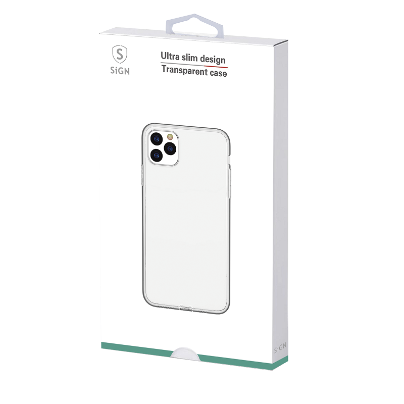 SiGN Ultra Slim Case för iPhone XS Max - Transparent