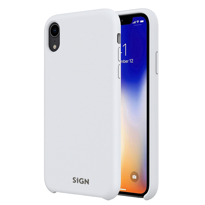 SiGN Liquid Silicone Case för iPhone XR - Vit