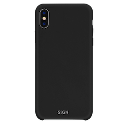 SiGN Liquid Silicone Case för iPhone XS Max - Svart