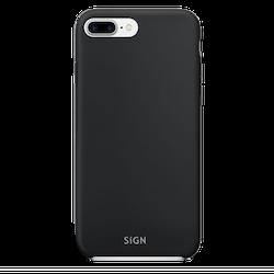 SiGN Liquid Silicone Case för iPhone 7 & 8 Plus - Svart