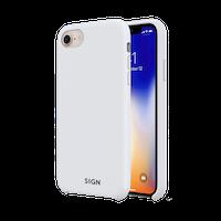 SiGN Liquid Silicone Case för iPhone 7 & 8/SE 2 - Vit