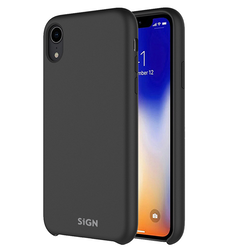 SiGN Liquid Silicone Case för iPhone XR - Svart