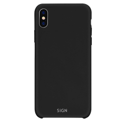 SiGN Liquid Silicone Case för iPhone X & XS - Svart