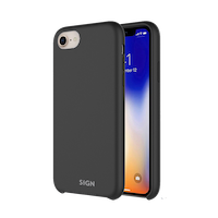 SiGN Liquid Silicone Case för iPhone 7 & 8/SE 2 - Svart