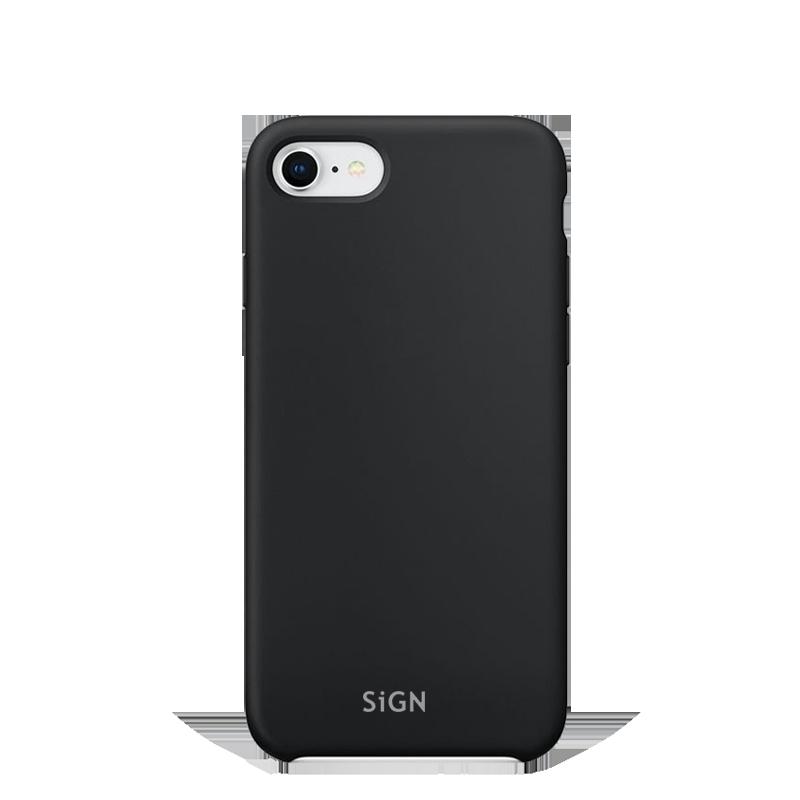 SiGN Liquid Silicone Case för iPhone 7 & 8/SE 2 - Svart