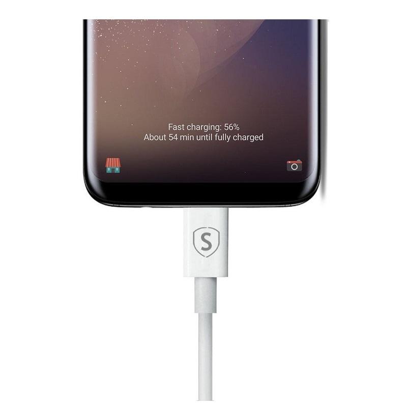 SiGN USB-C kabel för Snabbladdning 1 m - Vit
