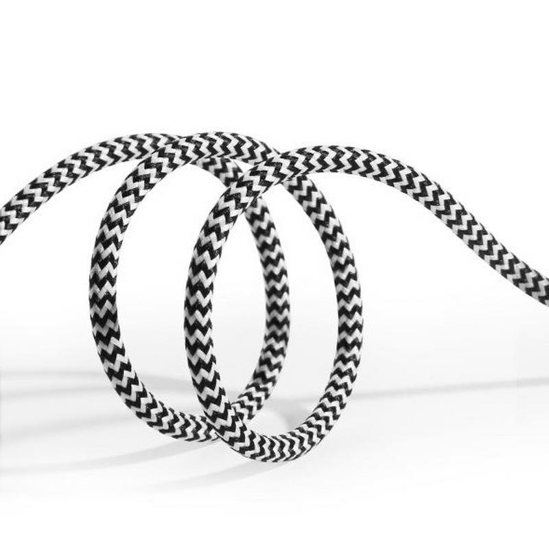 SiGN Skin USB-C-kabel 2.1A 3 m - Svart/Vit