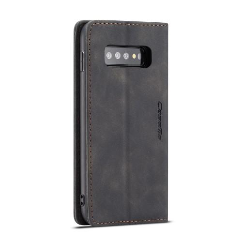 CASEME Plånboksfodral för Samsung Galax S10 Plus - Svart