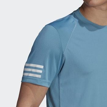 Adidas Club 3-Stripes T-Shirt Blue