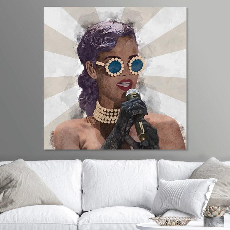 Pop Art Rihanna Canvas