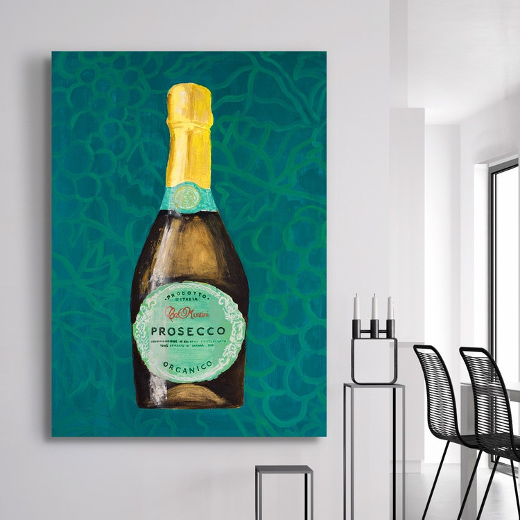 Sparkling Wine Art Canvas 2