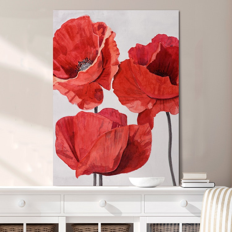 Painted Poppy 2 Canvas