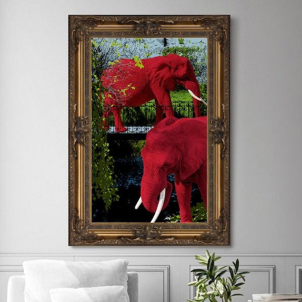 Elephant Park Canvas