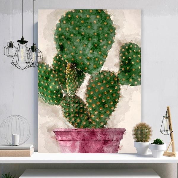 Cactus Paint Canvas