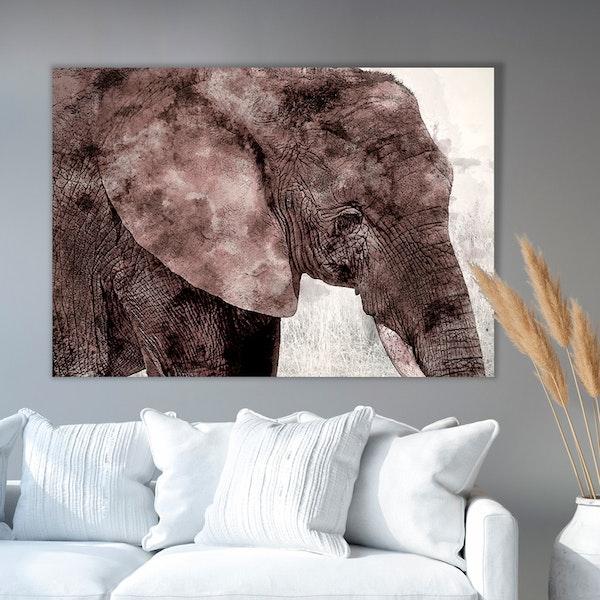 Elephant Paint Canvas