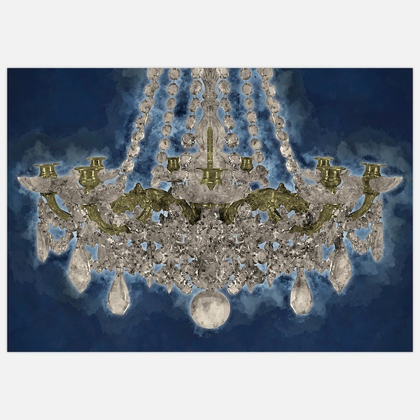 Chandelier on blue
