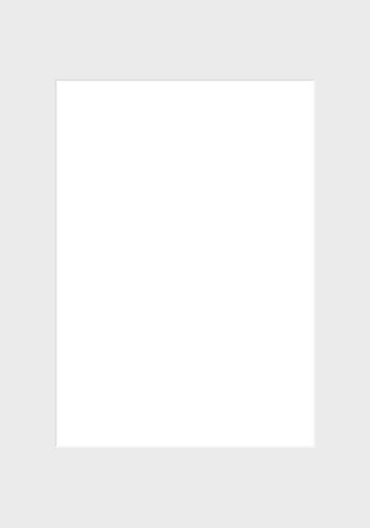 Vit passepartout, 70x100 – 50x70 cm
