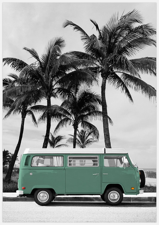 Green VW Bus