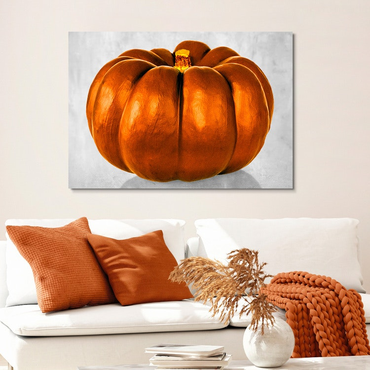 Pumpkin Orange Canvas
