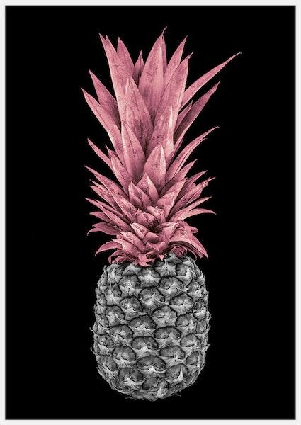 Pink Pineapple on Black