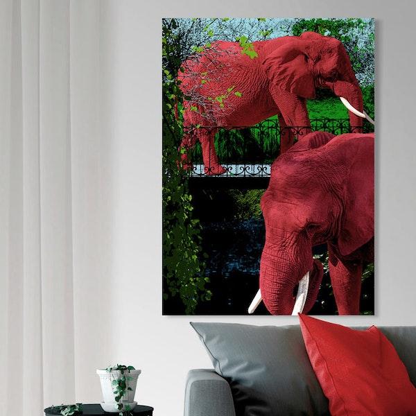 Elephant Park 2 Canvas