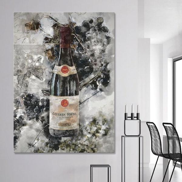 Wine Artwork Canvas