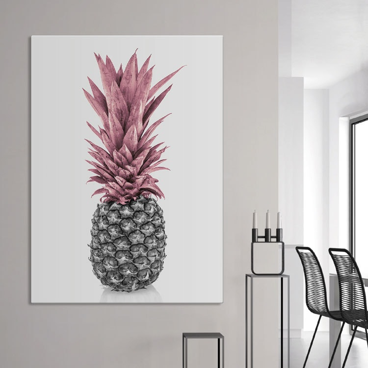 Pink Pineapple Canvas