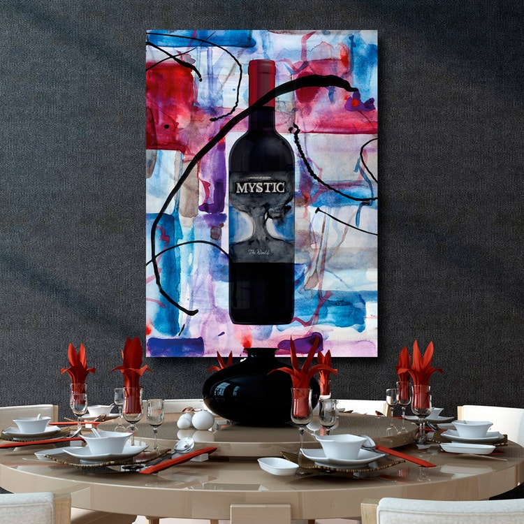 Red wine art canvas