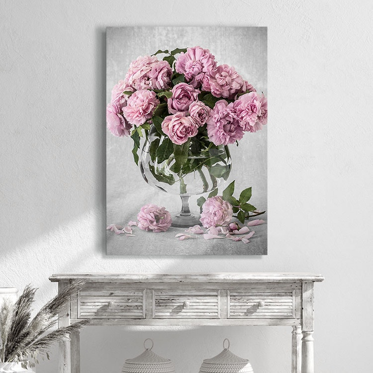 Bowl of Roses Canvas