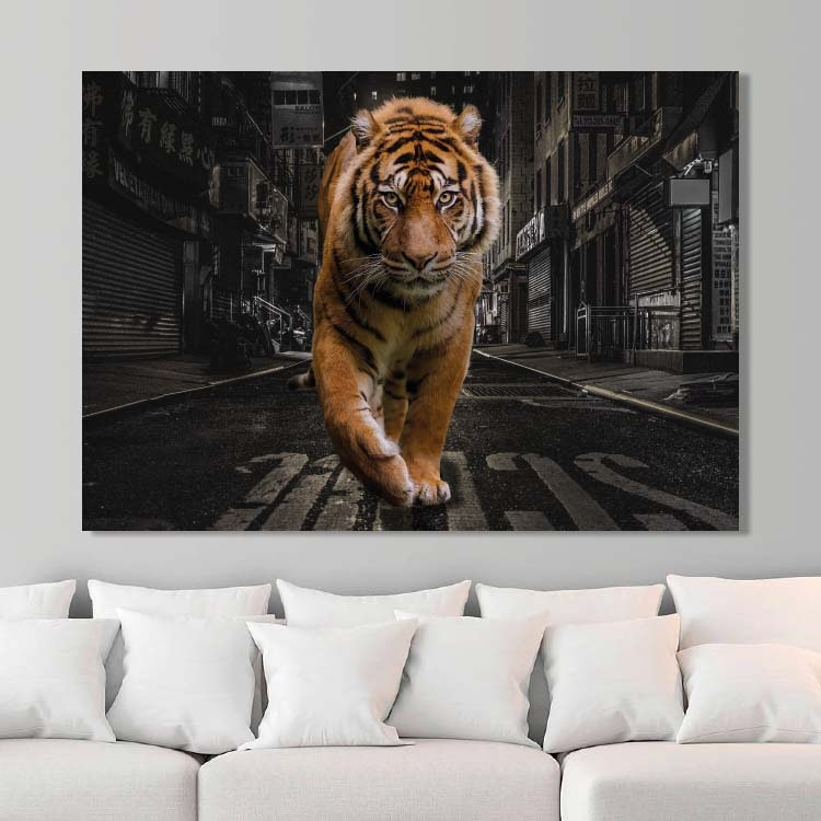 City Tiger Canvas