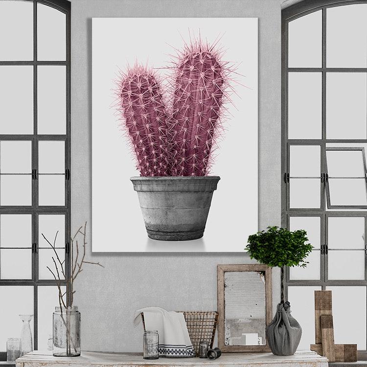 Pink Cactus Canvas