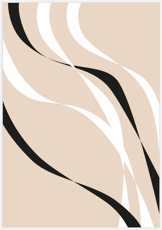 Abstract flow beige 2