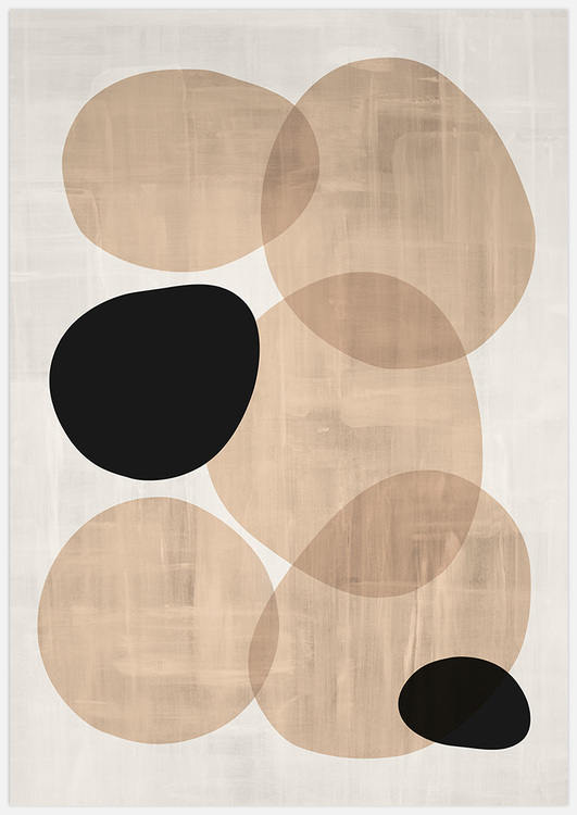 Tavelvägg Abstract Ovals