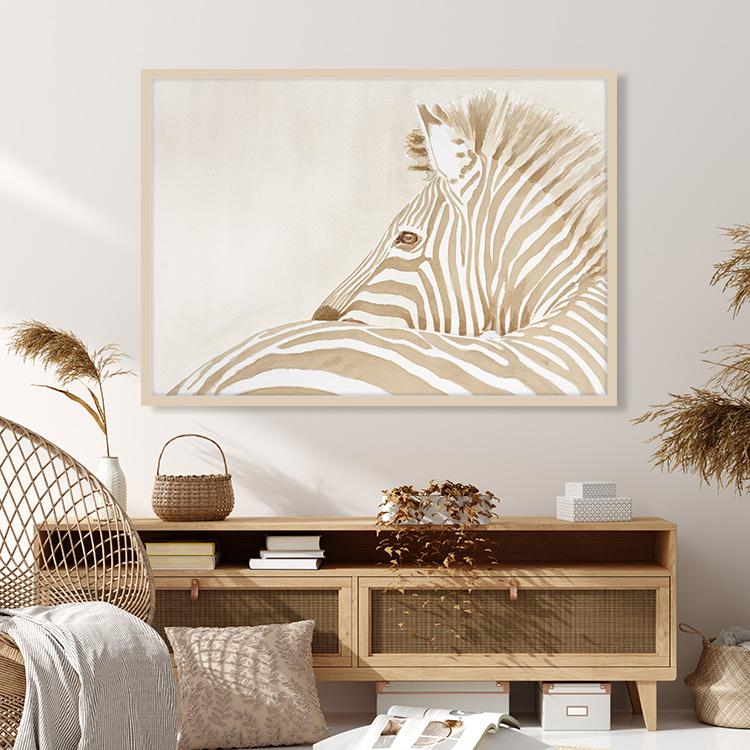Zebra in Beige