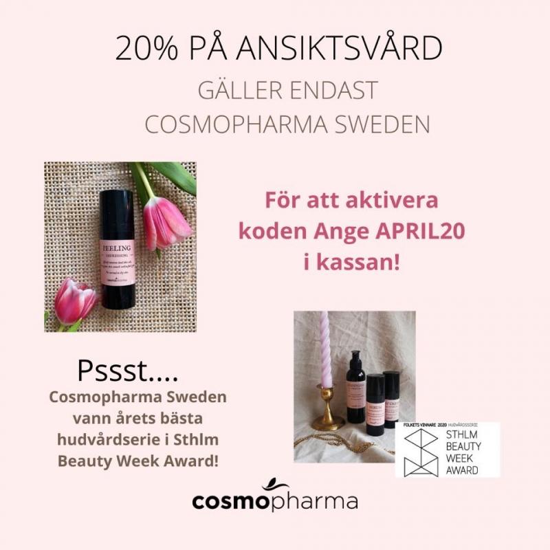 Happy Weekend - 20% på svensk ansiktsvård