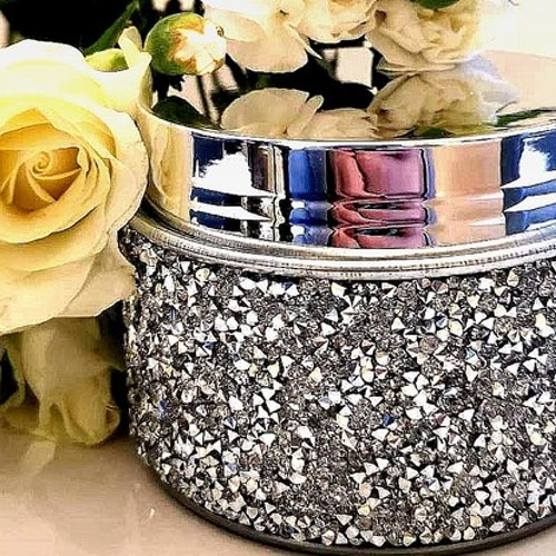 Metallbehållare med glitter