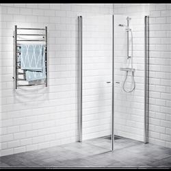 Alterna Picto duschhörna 80x80 cm Klarglas inklusive Monterat & Klart