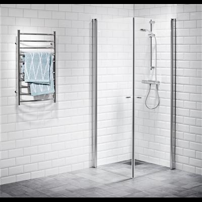 Alterna Picto duschhörna 90x90 cm Klarglas inklusive Monterat & Klart