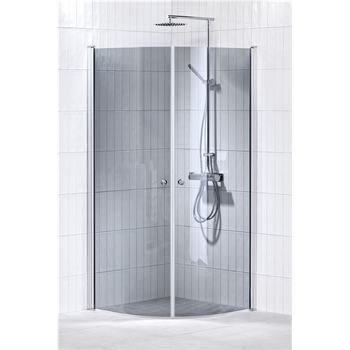 Alterna Lusso duschhörna 90x90 cm Gråton inklusive Monterat & Klart