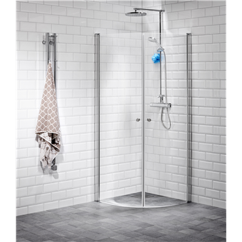 Alterna Lusso duschhörna 90x90 cm Klarglas inklusive Monterat & Klart