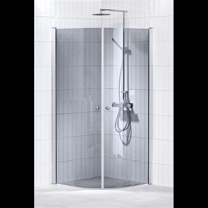 Alterna Lusso duschhörna 80x80 cm Gråton inklusive Monterat & Klart