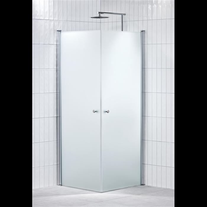 Alterna Lusso duschhörna 80x80 cm Frostat inklusive Monterat & Klart