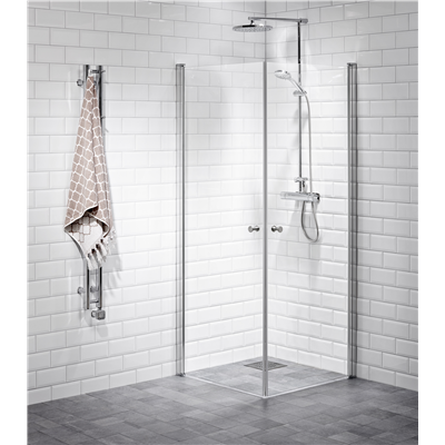 Alterna Lusso duschhörna 80x80 cm Klarglas inklusive Monterat & Klart