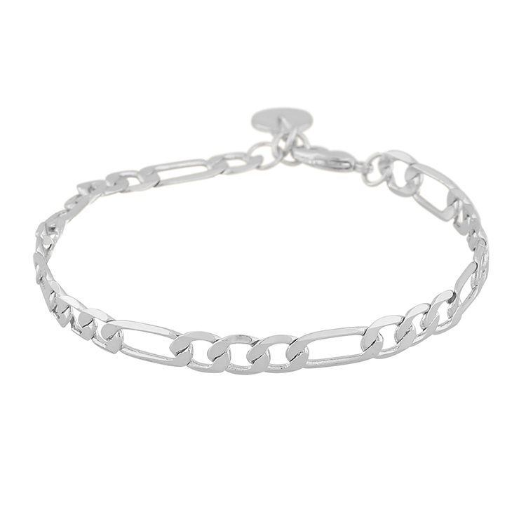 SNÖ OF SWEDEN - Anchor chain armband, silver