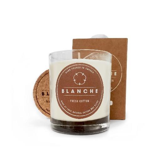 Presenttips doftljus Fresh cotton från Blanche.
