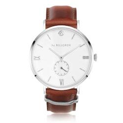 BY BILLGREN - Gustaf klocka läder, vit & brun
